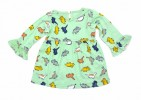 All Over Print Dino Full Sleeve   Girls Frock_Pest