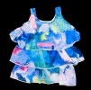 Baby Girls' Floral Summer Frock  Open Neck_Blue Print