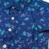 Flower Print Short Sleeve Shirt For Boys Blue