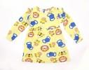 Full Sleeve Girls Winter Frock   All Over Print_ Light Yellow