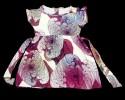 Latest girls' Stylish & Fashionable  Summer frock_Purple Print