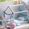 Mini-Villa LED Light Princess Bedroom Handmade Doll House