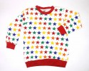 """Star All Over Print Full Sleeve  Tops for Winter_Red"""