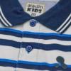 White & Blue Stripe Slim Fit Boys Polo T shirt Short Sleeve